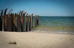 Пляж на острове Северного моря стоковые фотографии rf