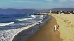 Пляж на пляже Венеции сток-видео