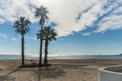 Пляж на Средиземном море в зиме стоковое изображение rf