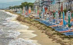 Пляж на утре позже стоковое изображение