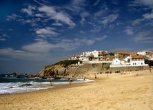 Пляж на São Педре de Moel, Португалии стоковое фото rf