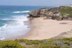 пляж нетронутый Стоковое Фото