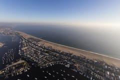 Пляж Ньюпорта побережья южной Калифорнии воздушный Стоковые Фото