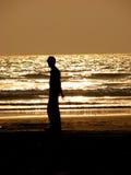 пляж одинокий стоковые изображения rf
