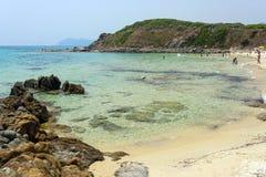 Пляж около виллы Simius Сардинии Италии Стоковое фото RF