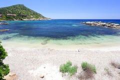 Пляж около виллы Simius Сардинии Италии Стоковая Фотография