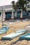 пляж около tropez st pampelonne стоковая фотография rf