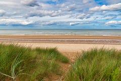 Пляж Омаха, Нормандия, Франция Стоковая Фотография