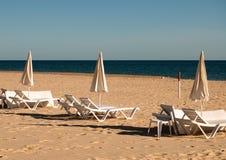 пляж осени algarve Стоковое Изображение