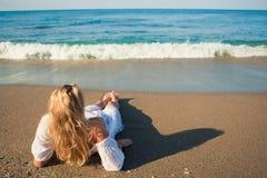 пляж ослабляет Стоковые Фото