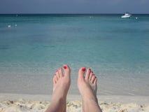 пляж ослабляя Стоковая Фотография