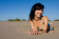 пляж ослабляя Стоковое Изображение