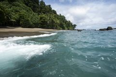 Пляж острова Caño Стоковое фото RF