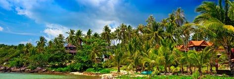 пляж панорамный Стоковые Изображения RF