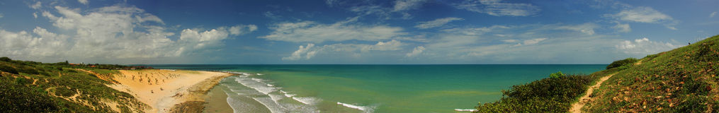 пляж панорамный Стоковое фото RF