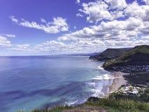 Пляж парка Stanwell на Wollongong, Австралии стоковое изображение