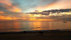 Пляж Паттайя в Паттайя, Таиланде Стоковые Изображения RF