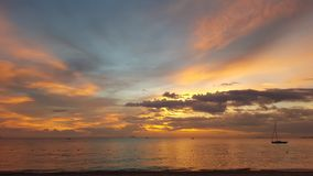 Пляж Паттайя в Паттайя, Таиланде Стоковые Фотографии RF