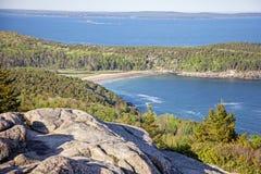 Пляж песка национального парка Acadia стоковые фото
