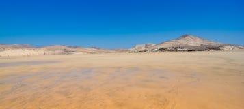 Пляж песка Фуэртевентуры Sotavento Risto Стоковое Изображение