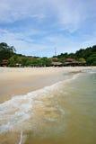Пляж песка Langkawi Cenang Стоковые Изображения