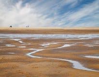 пляж песочный Стоковые Изображения RF