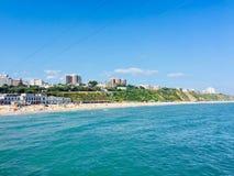 Пляж пляжа в Bornemouth Стоковая Фотография