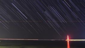 Пляж под звездами видеоматериал