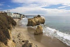 Пляж положения Malibu El матадора Калифорния Стоковая Фотография