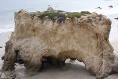 Пляж положения Malibu El матадора, Калифорния Стоковые Фотографии RF