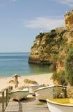 пляж Португалия algarve Стоковое Фото