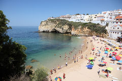 пляж Португалия algarve Стоковое Изображение RF