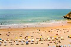 пляж Португалия algarve Стоковая Фотография RF