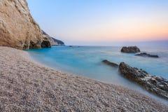 Пляж Порту Katsiki в острове лефкас, Греции Стоковое Изображение