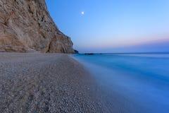 Пляж Порту Katsiki в острове лефкас, Греции Стоковые Изображения