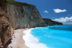 Пляж Порту Katsiki, лефкас, Греция Стоковое фото RF