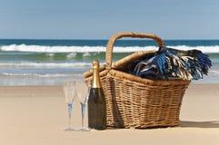 пляж после полудня Стоковое Изображение RF