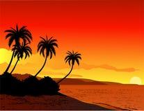 пляж предпосылки Стоковые Изображения RF