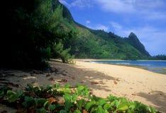 пляж прокладывает тоннель взгляд Стоковое Фото