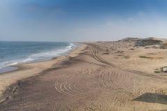 Пляж пустыни Namibe anisette Пляж пустыни Стоковая Фотография