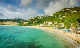 Пляж рассвета - St Martin Стоковое фото RF