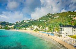 Пляж рассвета - St Martin Стоковое Фото