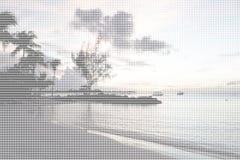 Пляж рая - искусство ASCII бесплатная иллюстрация