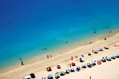 Пляж рая лефкас Стоковая Фотография RF