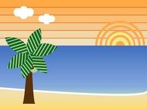 пляж ретро Стоковое Фото