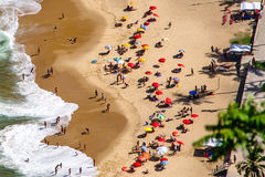Пляж Рио Де Жанеиро Urca Стоковые Изображения RF