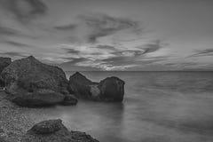 Пляж Родоса Kato Petres стоковые изображения rf