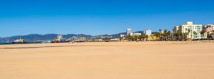 Пляж Санта-Моника в Лос-Анджелесе стоковые фотографии rf