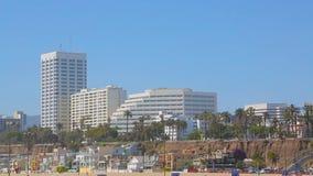 Пляж Санта-Моника, Лос-Анджелес, Калифорния сток-видео