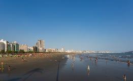 Пляж Сантоса, Бразилия Стоковая Фотография